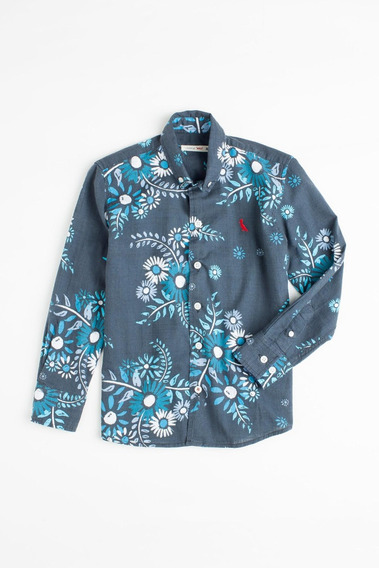 Camisa Mini Sm Floral Tinta Reserva Mini