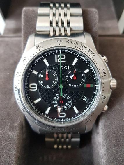 Reloj De Caballero Gucci Cronografo Quarzo Con Estuche Excel