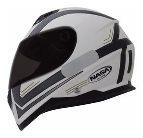 Capacete Nasa Sh-881 Elegance Branco/preto