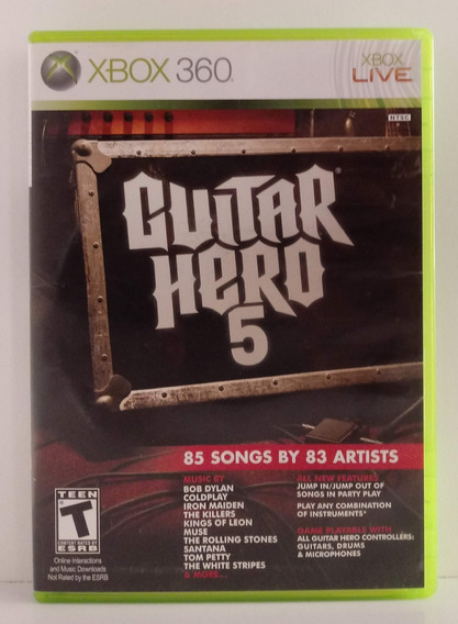 Guitar Hero 5 Jogo Xbox 360 Usado Mídia Física