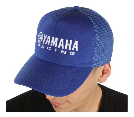 Gorra Yamaha Trucker Azul Original Automoto Lanus