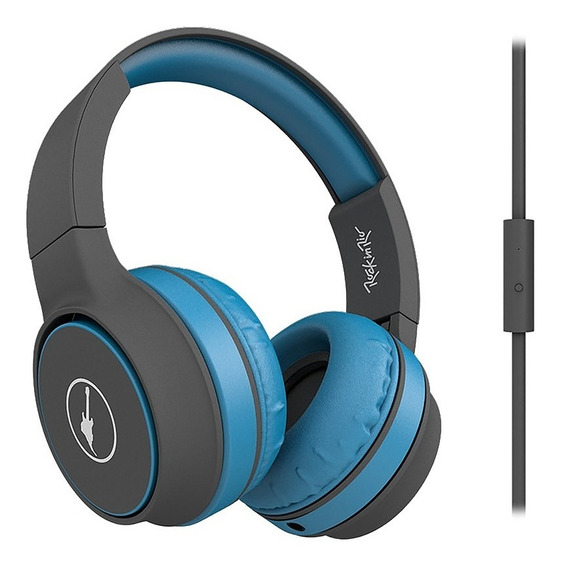 Headphone Rock Sunset Rock In Rio Azul Mtc1506, Acabamento E