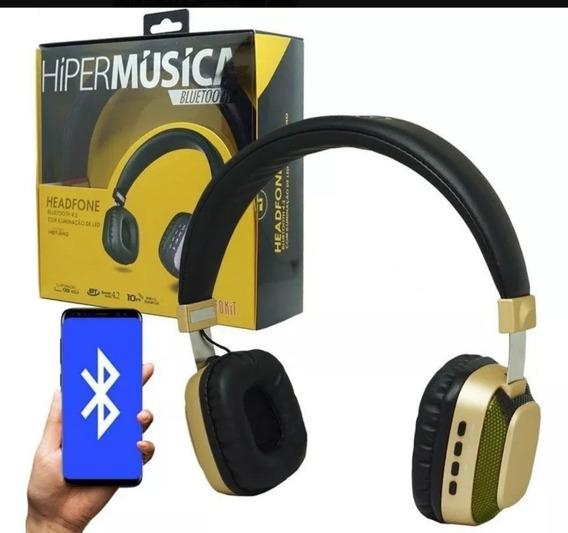 Fone Ouvido Headphone Sem Fio Led Bass Estéreo Bluetooth