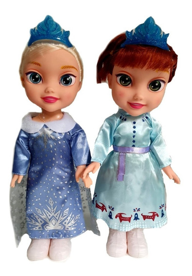 Kit 2 Bonecas Do Filme Frozen Disney Princesa Elsa E Ana