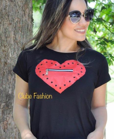 Tshirts Camiseta Feminina Estampa Variadas Malha Algodao