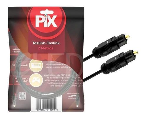 Imagem 1 de 4 de Cabo Optico Audio Toslink Profissional 2m Xbox, Ps3, Ps4