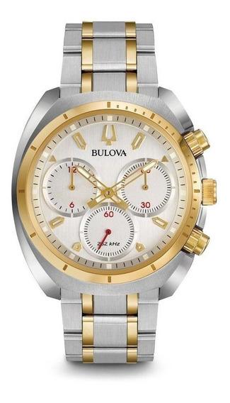 Relógio Masculino Bulova Analógico Wb31952s - Prata/dourado