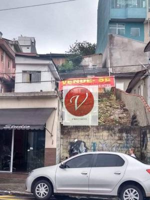 Terreno À Venda, 255 M² Por R$ 1.100.000 - Vila Linda - Santo André/sp - Te0418