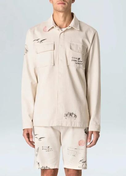 Jaqueta Masculina Overcoat - Bege