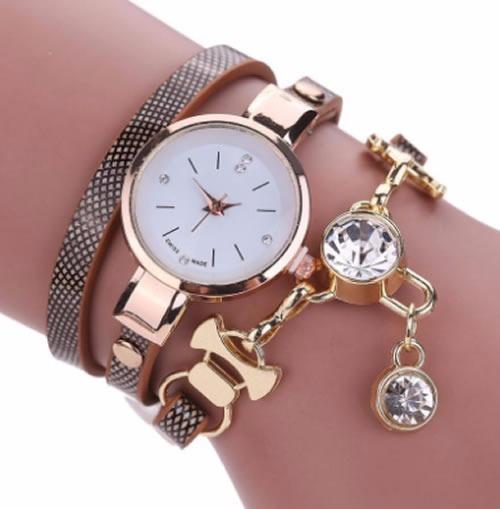 Relógio Feminino Bracelete Com Pedras Na Caixa Para Presente