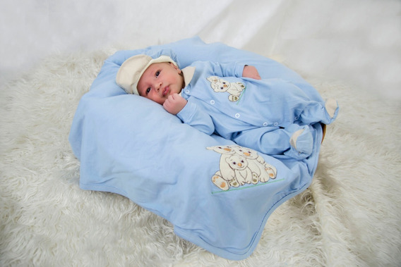 Saída Maternidade Menino Azul Bebe