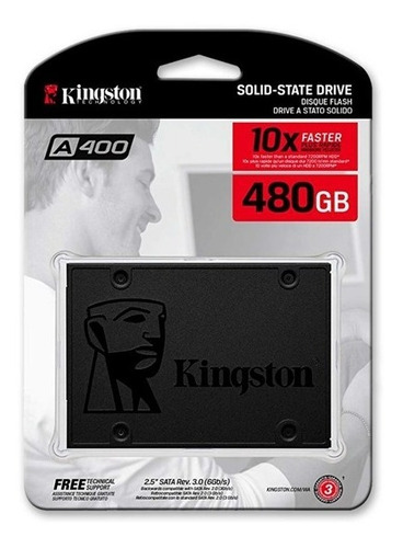 Unidad De Estado Solido Ssd Kingston A400 480gb Sataiii 2.5