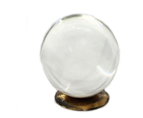Bola De Cristal Trasparente Grande Com Base Para Adivinhação
