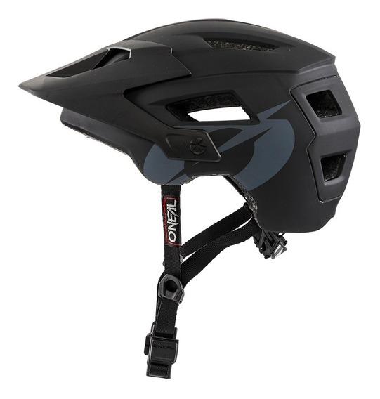 Casco Oneal Defender Solid Black Bicicleta Mtb Enduro
