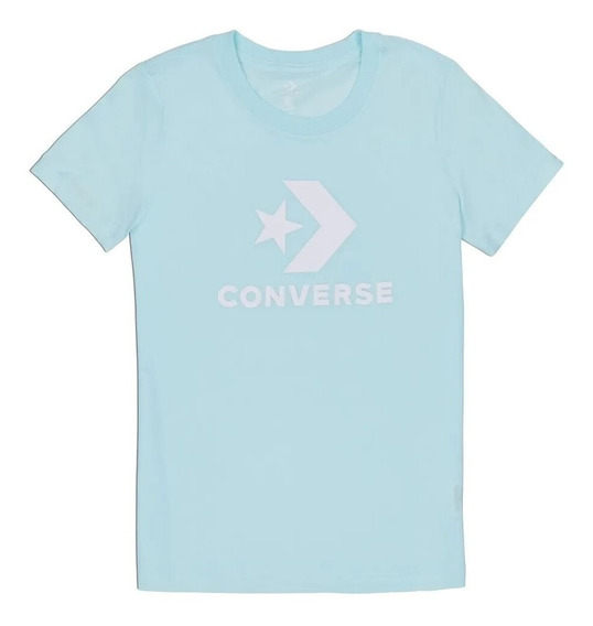 Remera Mujer Converse All Star Teal