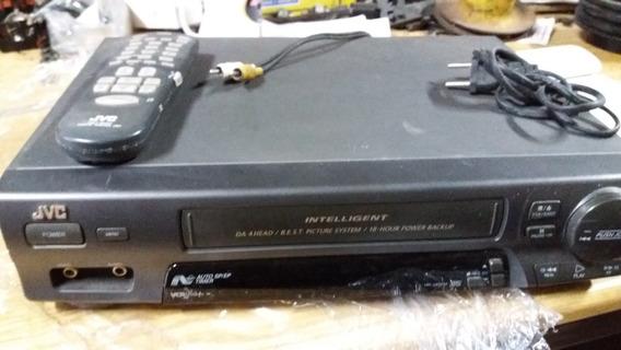 Vídeo Cassete K7 Jvc C/control Não Testado Vendido No Estado