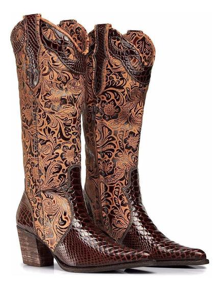 Bota Texana Anaconda Country Feminina Bico Fino 4country