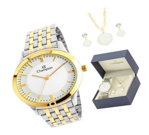 Relógio Champion + Kit Feminino Brinde Semijoia