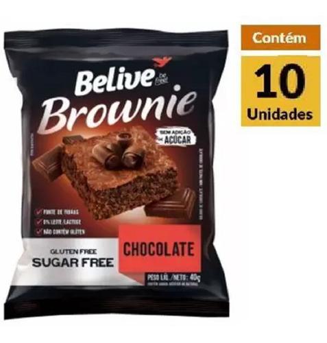 Imagem 1 de 1 de Brownie Choc Zero Belive 10x40g