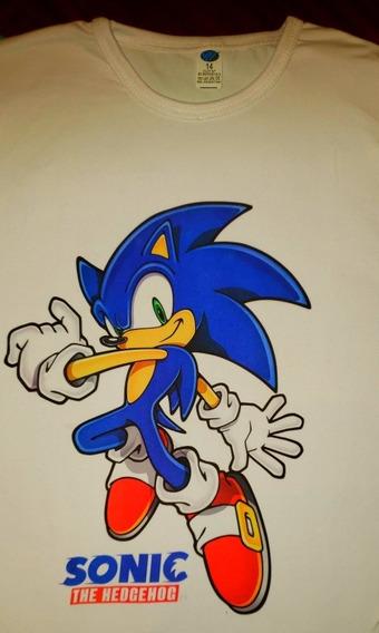 Remera Sonic Niños