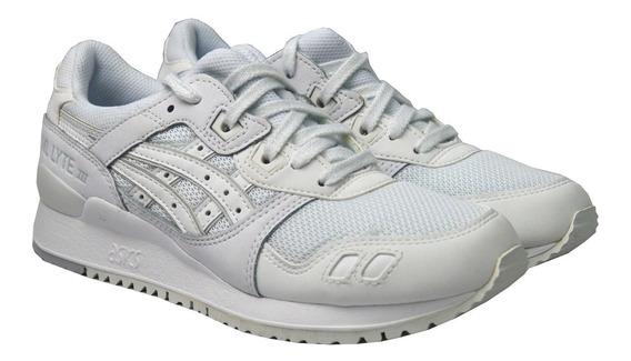 Tenis Asics Tiger Casuales Hombre Blancos Gel Lyte H7n3n0101