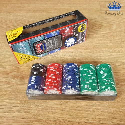 Fichas Poker Profesional Bicycle 8 Gram Clay 100 Chips Casin