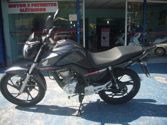 Honda Cg 160 Fan Cinza Ano 2019 Troca Financia