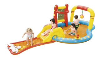 Pileta Inflable Con Tobogan Pelotero Infantil Center Play