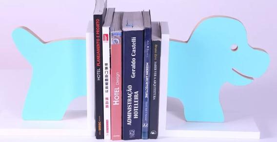 Porta Livros Cachorro Em Mdf Melaminico 15mm 40x21 Cm...
