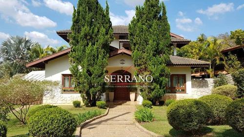 Casa Com 6 Dormitórios À Venda, 336 M² Por R$ 2.500.000,00 - Vista Alegre - Vinhedo/sp - Ca0761