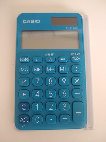 Calculadora Solar Casio Azul