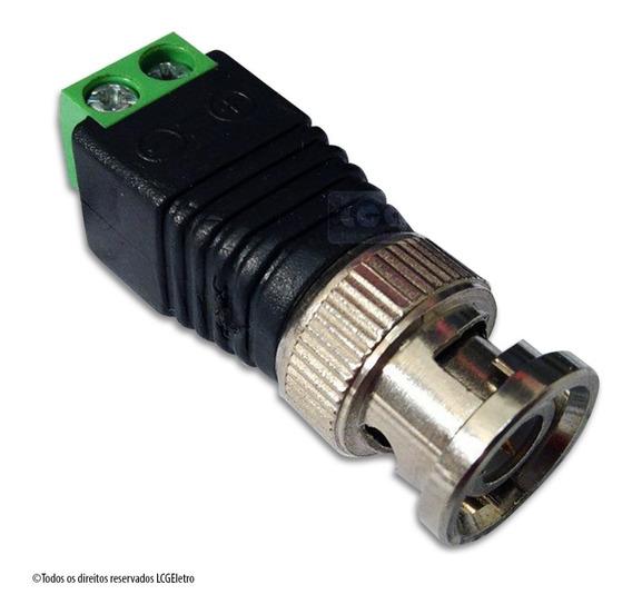 Conector Plug Bnc Macho Com Borne Para Câmeras Cftv 50un