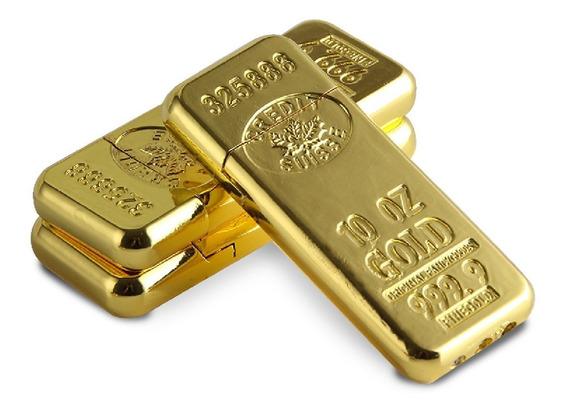 Encendedor Forma De Lingote De Oro Gold Stockville