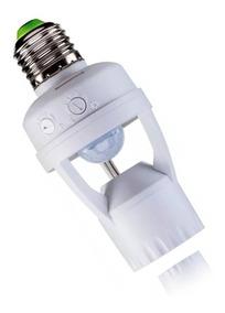 Sensor De Presença P/ Lâmpada Soquete E27 C/ Fotocélula