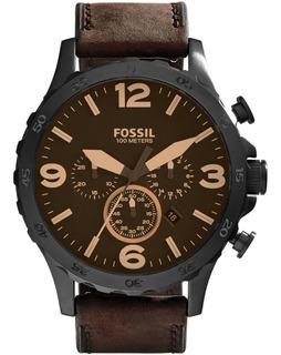 Reloj Fossil Jr1487 Nate Cronografo Hombre 100% Original Gt