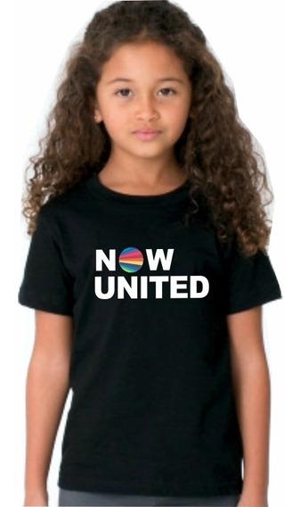 Camiseta Now United Infantil E Adto. Top Algodão Confortável