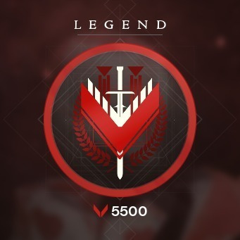 Rank De Glória Lenda / Legend, Do 0 A 5500 - Destiny Pc