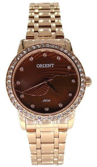 Relógio Orient Feminino Rose Com Pedras