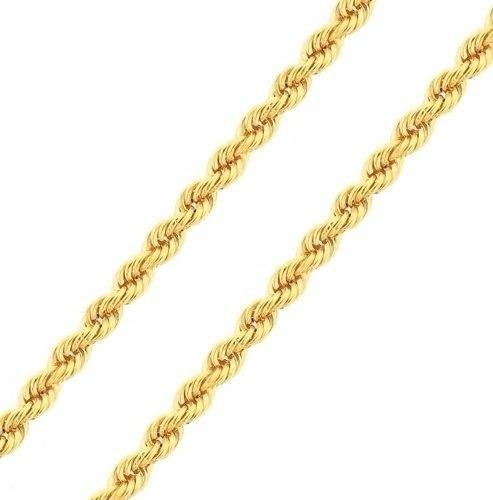 Corrente Cordão Baiano Ouro 18k Certificado 45cm - F42