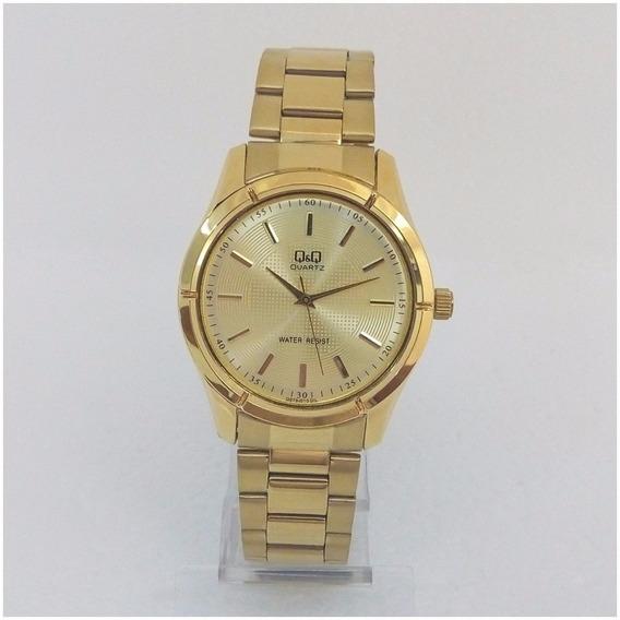 Relógio Feminino Qq Quartz 010y Dourado Original Luxo Vip 12x S/j
