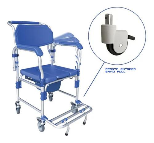 Imagem 1 de 7 de Cadeira De Banho Sanitaria Higienica Dobrável D60 Dellamed