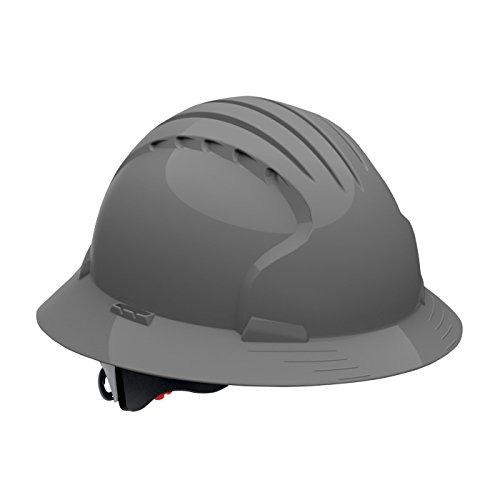Evolución Deluxe 6161 Full Brim Hard Hat Con Hdpe Shell, Gri