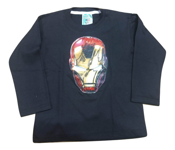 Remera Con Luces Led Iron Man