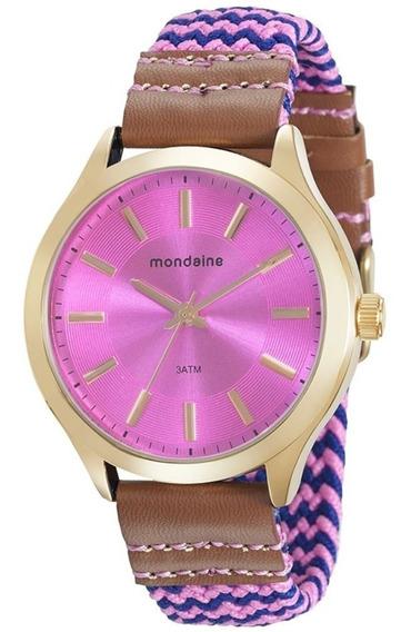 Relógio Feminino Mondaine Coleção Riviera Chic Cor Rosa