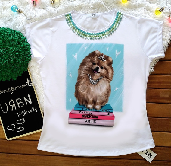 Camiseta Feminina Blusa T-shirt Spitz Lulu Da Pomerania Pet