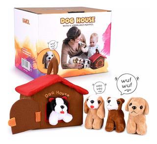 Hakol Dog House Carrier Toy Educativo Con 4 Squishy & Amp; B