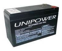 Bateria 12v 7a Para Alarme Ou Nobreak Unipower