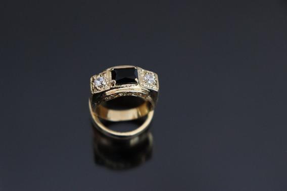 Anel Cravejado Em Zirconia - Banhado A Ouro 18k