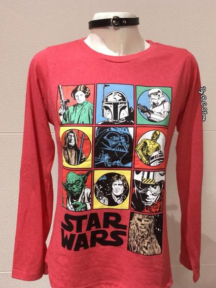 Camiseta Star Wars Mujer Algodón Excelente Calidad