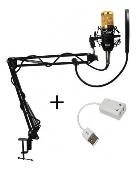 Kit Completo Microfone Bm800 Plus Original + Nota Fiscal